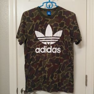 Adidas spelled out camo tshirt